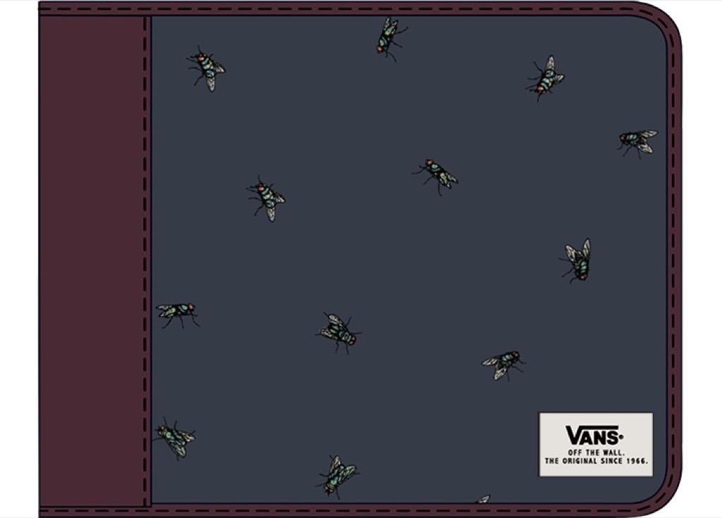Кошелёк EXTER WALLET EU VANS. Цвет: синий принт
