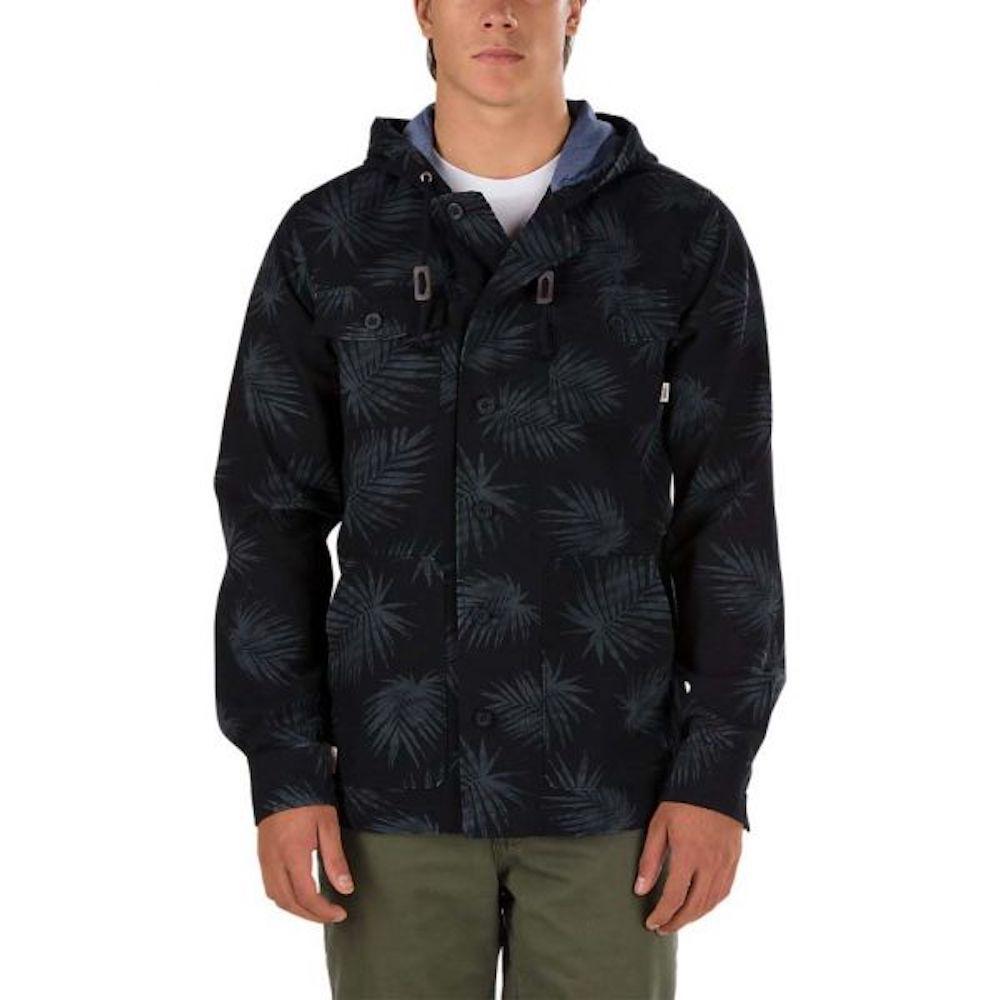 Куртка LismoreКуртки<br>Lismore - куртка VANS из 100% хлопка. Два нагрудных кармана на пуговицах, капюшон с подкладкой, легкие материалы - всё для максимального удобства. Традиционное для Vans внимание к мелочам проявляется в таких деталях, как качественный ярлык с логотипом на боковом кармане, тщательно пришитые пуговицы и приятные на ощупь натуральные материалы.<br><br>Цвет: Черный<br>Размер INT: M<br>Материал: 100% хлопок<br>Пол: Men