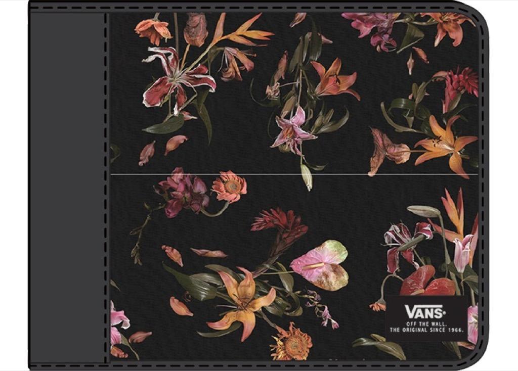 Кошелёк EXTER WALLET EU VANS. Цвет: чёрный цветочный принт