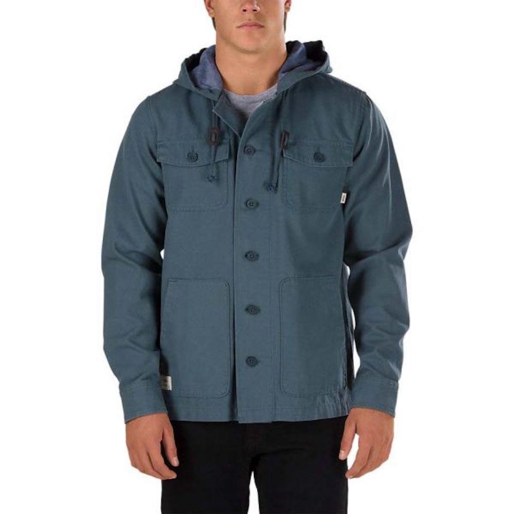 Куртка LismoreКуртки<br>Lismore - куртка VANS из 100% хлопка. Два нагрудных кармана на пуговицах, капюшон с подкладкой, легкие материалы - всё для максимального удобства. Традиционное для Vans внимание к мелочам проявляется в таких деталях, как качественный ярлык с логотипом на боковом кармане, тщательно пришитые пуговицы и приятные на ощупь натуральные материалы.<br><br>Цвет: Серый<br>Размер INT: M<br>Материал: 100% хлопок<br>Пол: Men