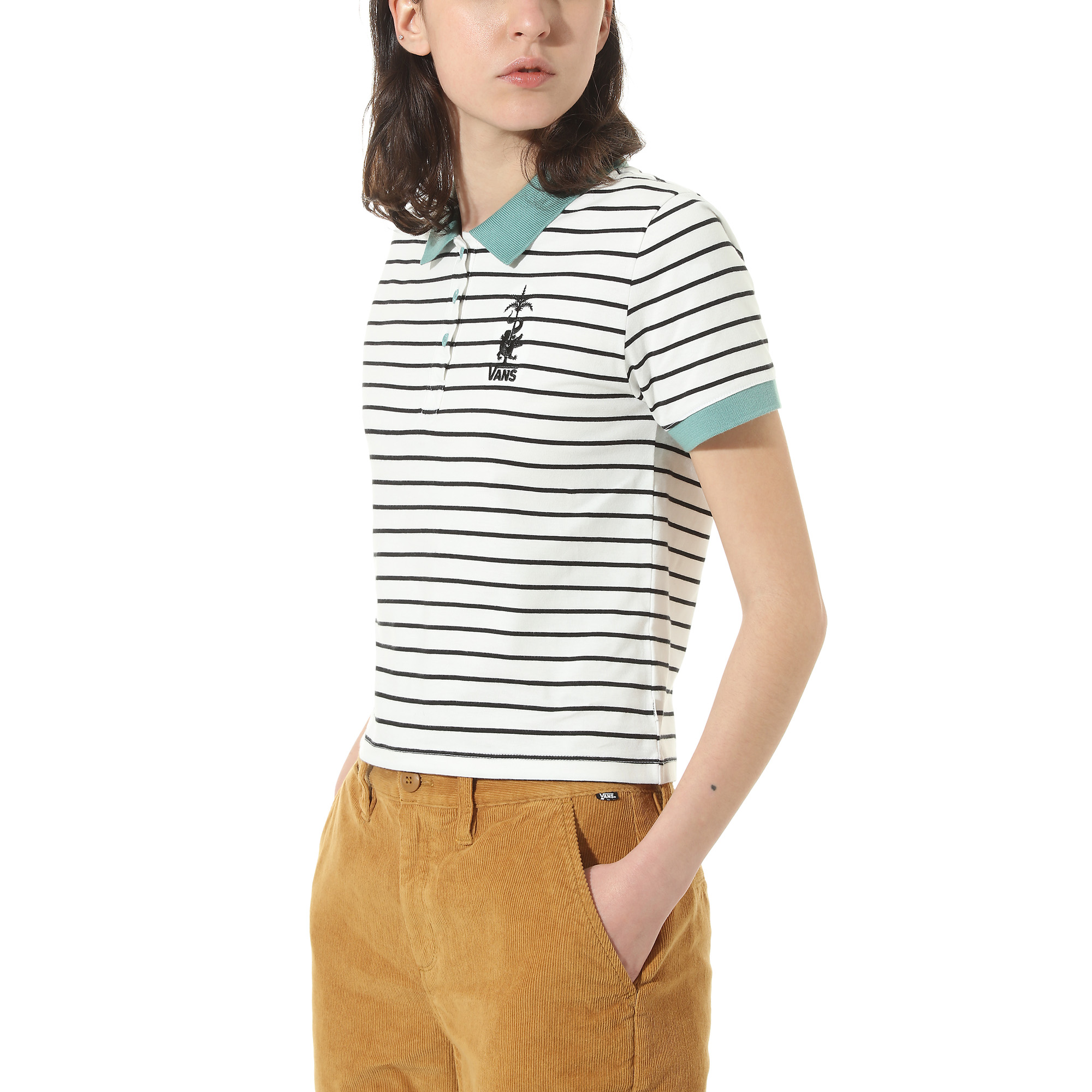 Рубашка Fabiana Stripe Polo Top
