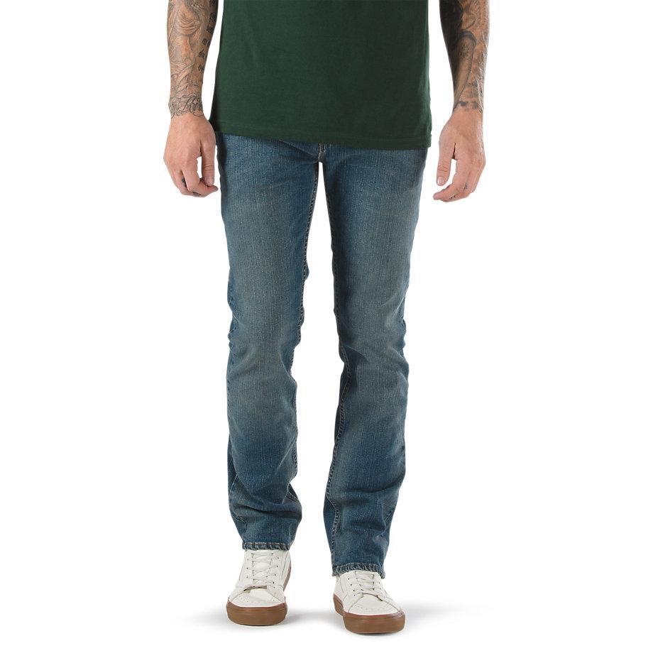 Джинсы V16 SlimДжинсы<br>V16 - классические SLIM джинсы VANS из комбинированного материала<br><br>Цвет: Синий<br>Размер INCH: 33/32<br>Материал: 98% хлопок 2% лайкра<br>Пол: Men