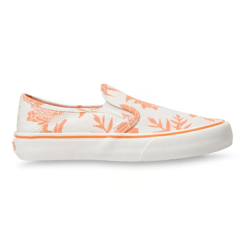 Кеды Island Floral Slip-On SF VANS белого цвета